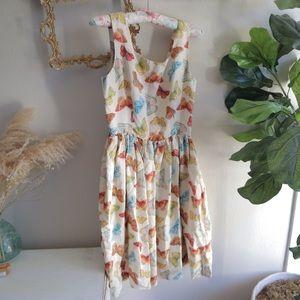 Banana Republic Dresses - Rare Boho Butterfly silk dress